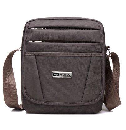 Men Waterproof Nylon Multi Pockets Business Packag Crossbody Bag