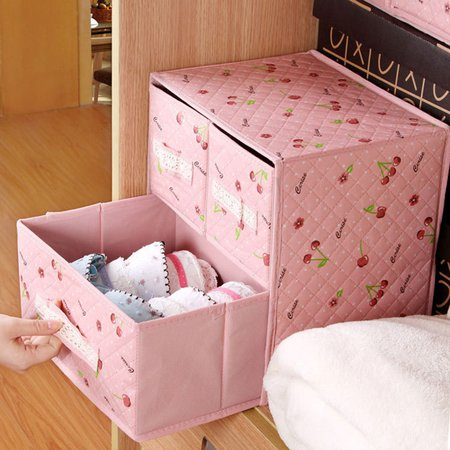 Casual Nonwovens Printed Folding Underwear Storage Bag