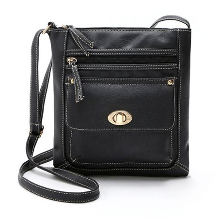 Women Retro PU Leather Stylish Square Crossbody Bag