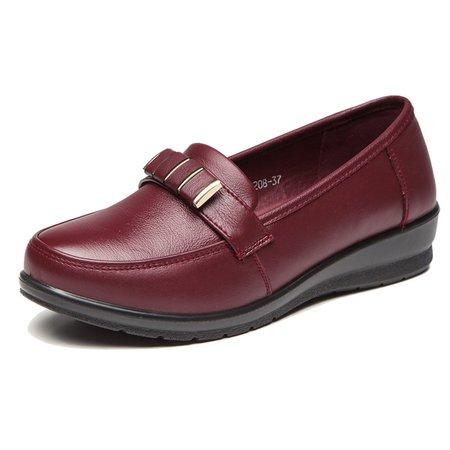 Casual Genuine Leather Non Slip Flats