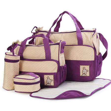 5PCS High Capacity Multifunctional Casual Mommy Storage Bag