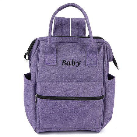 Versatile High Capacity Multi-slots Casual Polyester Mommy Handbag Backpack With Pad