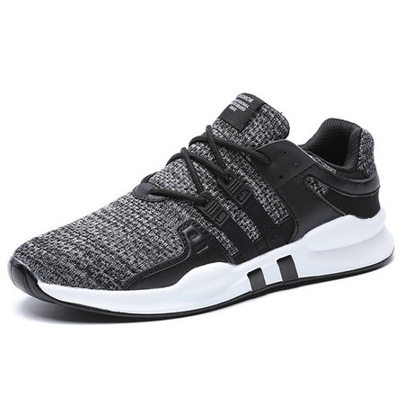 Men Mesh Fabric Breathable Lightweight Lace Up Casual Running Sneakers