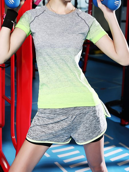 Short Sleeve Ombre/Tie-Dye T-Shirt
