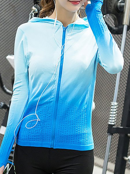 Long Sleeve Sports Hoodie Jacket