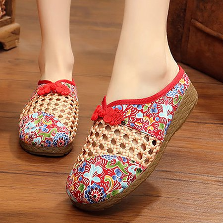 Daily Floral Print Closed Toe Slippers