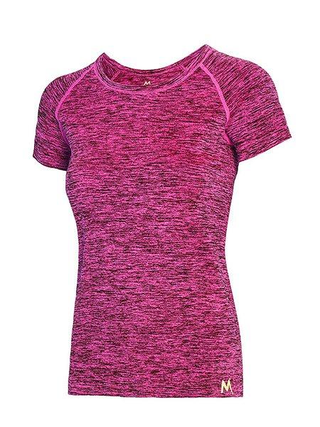 Solid Sports Cotton-blend Short Sleeve Crew Neck T-Shirt
