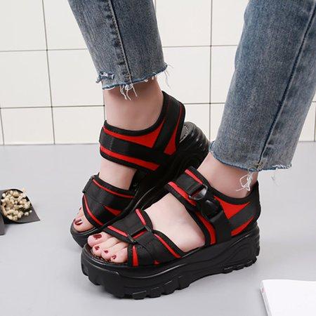 Women Buckle Tanjun Platform Sandals