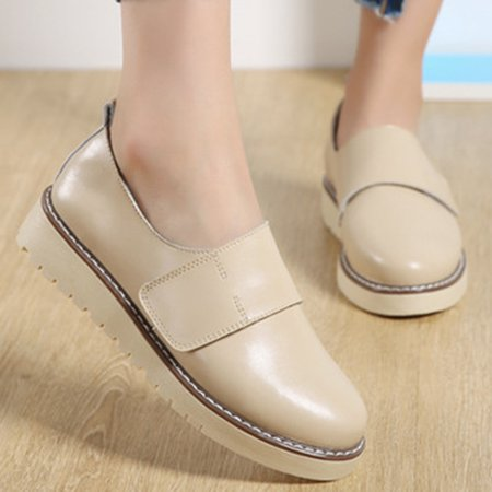 All Season Magic Tape Flat Heel Casual Artificial Leather Oxfords