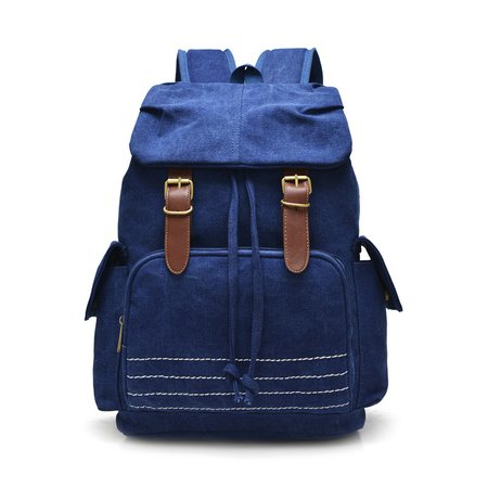 Durable Canvas Large Capacity Casual Zipper Backpack
