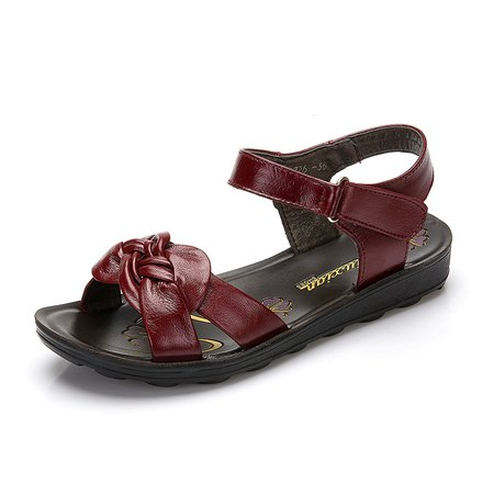 Magic Tape Genuine Leather Sandals