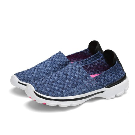 Fall Athletic Knitted Fabric Sneakers