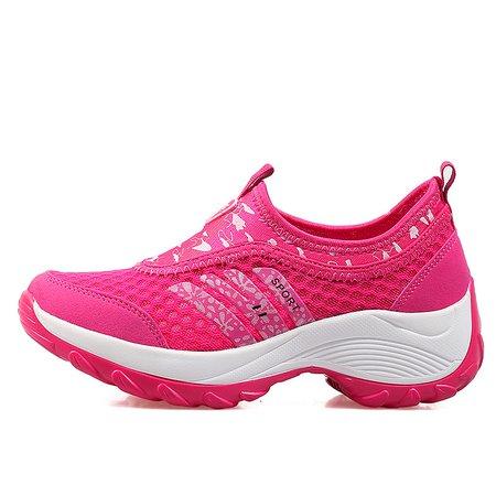 Platform Mesh Fabric Athletic Sneaker