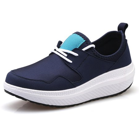 Lace-up Elastic Cloth Runing Sneakers