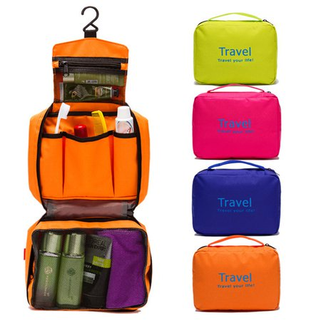 Travel Oxford Wash Cosmetic Hang Multifunctional Storage Bag For Women