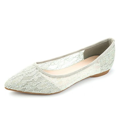Daily Pointed Toe Lace Flats