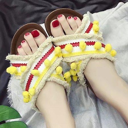 Casual Flat Heel Slippers