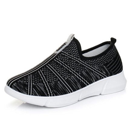 Platform Cotton Round Toe Sneakers