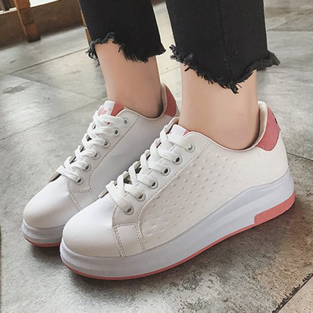 Daily Lace-up Platform PU Sneakers
