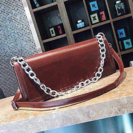 PU Leather Elegant Chain Shoulder Purse Crossbody Bag For Women