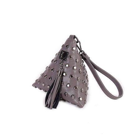 Vintage Rivet Decoration Fashion Designed PU Leather Clutch For Women
