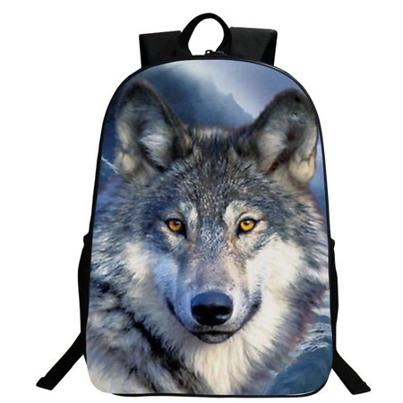 Individual 3D Animal Pattern Street Style Large Capacity Backpack School Bag