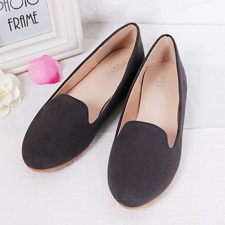 Plus Size Artificial Leather Flat Heel Flats