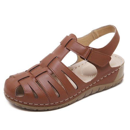 Dress Summer Wedge Heel Magic Tape Sandals