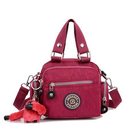 Women Multi Pockets Nylon Casual Crossbody Bag