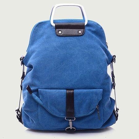 Large Capacity Canvas Casual Multifunctional Backpack Crossbody Bag