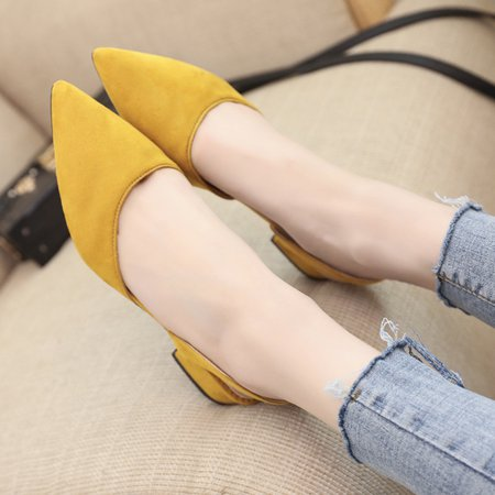 how to get dandilion yellow off suade shoes