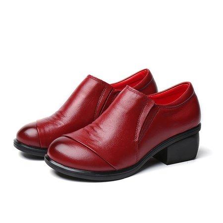 Plus Size Platform Leather Oxfords