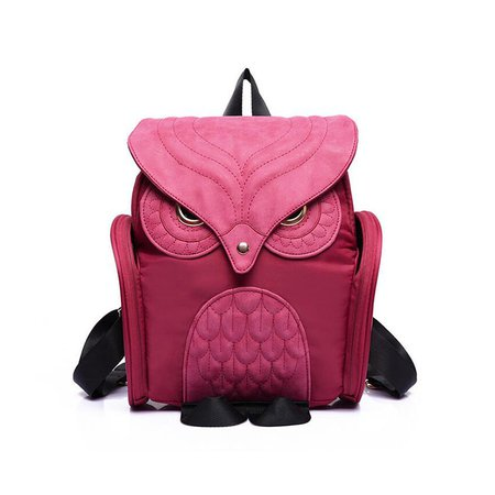 Individual Stylish Cartoon Owl Pattern Shape Nylon Cute Backpack
