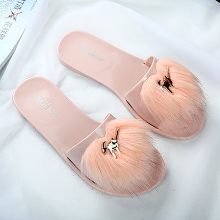 Flat Heel Casual Jelly Slippers