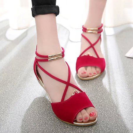 Daily Zipper Peep Toe Flocking Sandals
