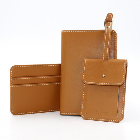 3PCS PU Leather Wallet Card Holder Clutches For Women
