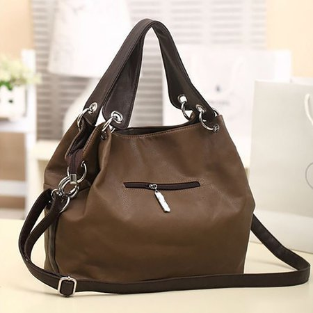 Chic Large Capacity Pu Leather Tote Bag Crossbody Bags For
