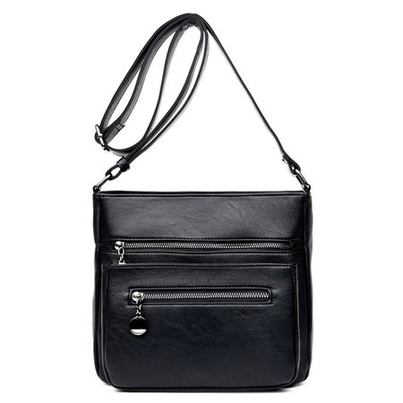 Stylish Multi-slots PU Leather Crossbody Bag For Women Men