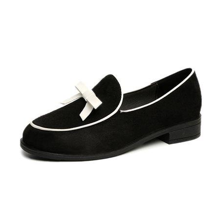Suede Heel Casual Loafers