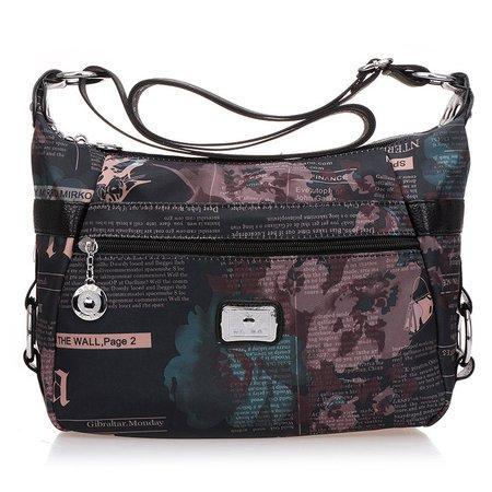 Vintage Nylon Multi Pockets Crossbody Bag For Women
