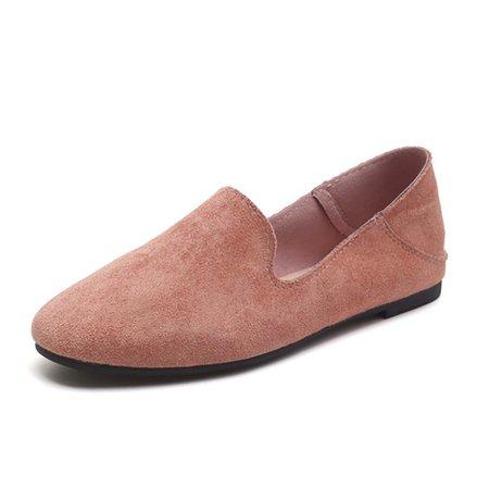 Flat Heel Flocking Slip-on Loafers