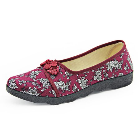 Chinese Classic Cloth Shoes Embroidered Flats