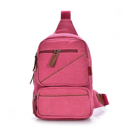 Unisex Canvas Outdoor Casual Large Capacity Crossbody Bags