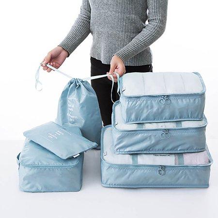 6PCS Waterproof Oxford Large Capacity Travel Portable Storage Bag