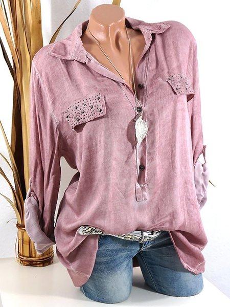 Shirt Collar Long Sleeve Shirts