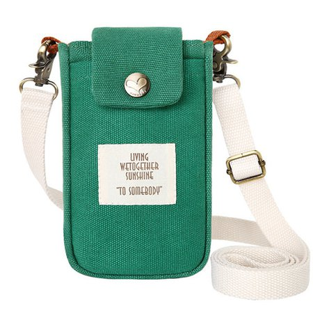 Women Canvas Cute Phone Purse Multi-Function Crossbody Bag