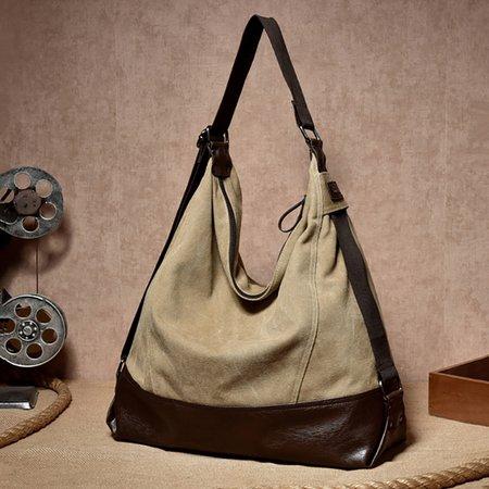 Durable Canvas Casual Large Capacity Handbag Shoulder Bag For Women