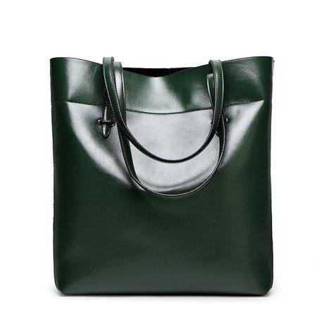 Cowhide Leather Elegant Women Tote Bag Shoulder Bag