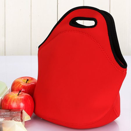 Waterproof Neoprene Portable Lunch Bag Point Heat Retaining Storage Bag