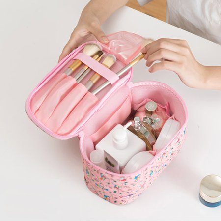 Waterproof Nylon Printed Casual Portable Cosmetic Bag Storage Bag For Women